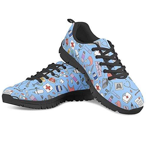 POLERO Nurse Shoes Verpleegkundige schoenen dames heren sneaker veterschoenen sportschoenen ademende loopschoenen voor…