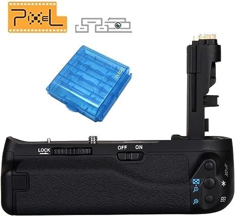 PIXEL Empuñadura de Batería BG-E14 para Canon EOS 70D 80D Cámara ...