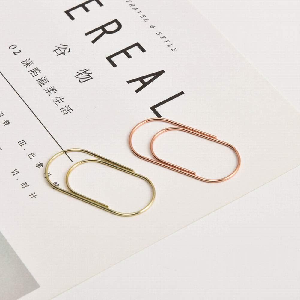 PoeHXtyy 10 PCS 50x20mm Mega Large Paper Clips Holder Ago di carta carino Multicolor Segnalibro Forniture per ufficio