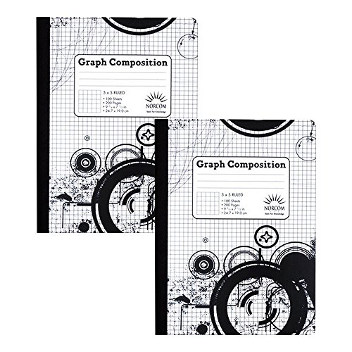 Norcom 5 x 5 Ruled Graph Composition Book (Pack of Two Bo...