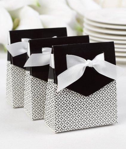 Hortense B. Hewitt Wedding Accessories Tent Favor Boxes, Black, Pack of 25 -