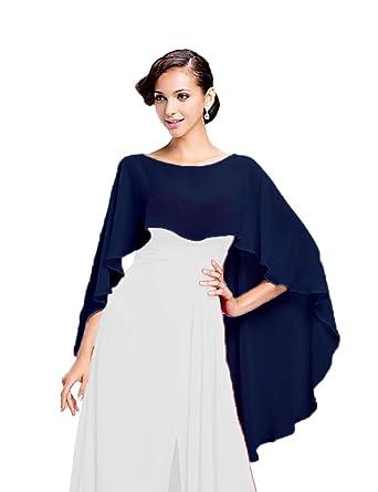 best selling new product cheap CoCogirls Stola in chiffon per abiti in diversi colori, adatta a qualsiasi  abito da sposa, da sera, da matrimonio, da gala o ricevimento azzurro ...