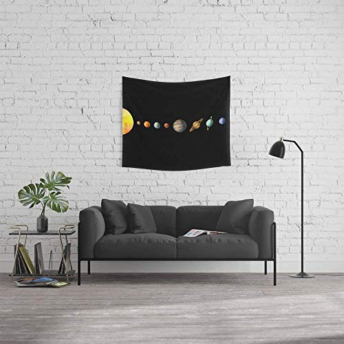 Force-over Wall Tapestry, Size Small: 51'' x 60'', Solar System by Force-over