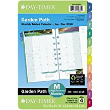 "Day-Timer Refill 2018, Two Page Per Month, January 2018 - December 2018, Loose Leaf, Desk Size, 5-1/2"" x 8-1/2"", Garden Path (13486-1801)"