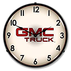 GMC Truck LED Wall Clock, Retro/Vintage, Lighted, 14 inch