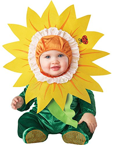InCharacter Costumes Baby's Silly Sunflower Costume, Green/Yellow, Large (18 Months - -