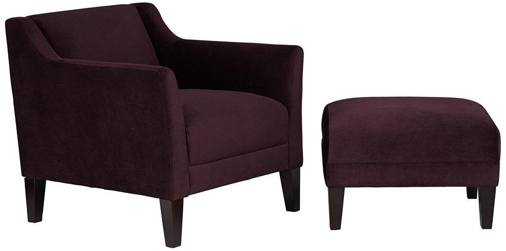 Awe Inspiring Lillian Eggplant Accent Chair And Ottoman Amazon Ca Home Evergreenethics Interior Chair Design Evergreenethicsorg