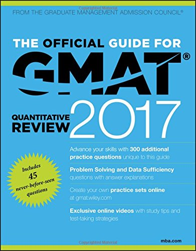 The Official Guide for GMAT Quantitative Review 2017 with Online