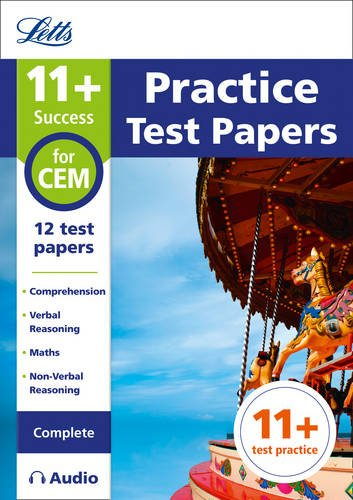 Letts 11+ Success – 11+ Practice Test Papers for the CEM tests (Complete) inc. Audio Download