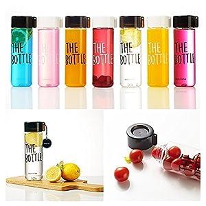 The Bottle Transparent Bucket Pail Water Bottle BPA Free (Black)
