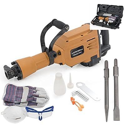 ARKSEN 2800W Demolition Jack Hammer Electric Concrete Breaker Point & Chisel Kit