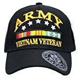 Embroidered U.S. Army Veteran Marine Navy Air Force Military U.S. Warriors Baseball Cap Hat (ARMY (VIETNAM))