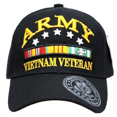 Embroidered U.S. Army Veteran Marine Navy Air Force Military U.S. Warriors Baseball Cap Hat (ARMY (VIETNAM))