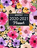 Monthly Planner 2020-2021: 24- Month Calendar Schedule Organizer and Notebook ( January 2020  - December 2021 ) Flower Cover Two Year Planner 8.5x11: Phone book, U.S. Holidays