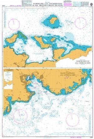 Ba Diagramm 2020  West Indies, Häfen und ankerplätzen in die britischen Jungferninseln von UNITED KINGDOM Hydrographic Büro