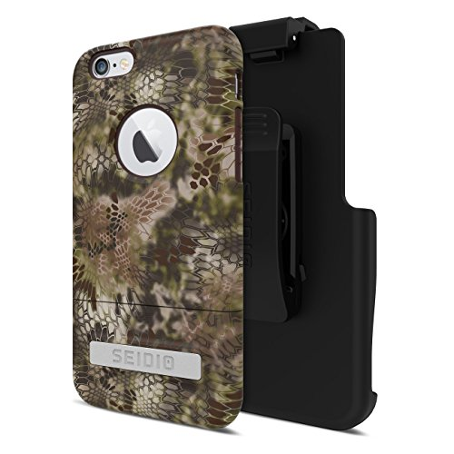 Seidio Phone Cases (Seidio Surface Case with Metal Kickstand and Holster Combo for iPhone 6/6s (Kryptek Highlander) - Non-Retail Packaging - Brown)