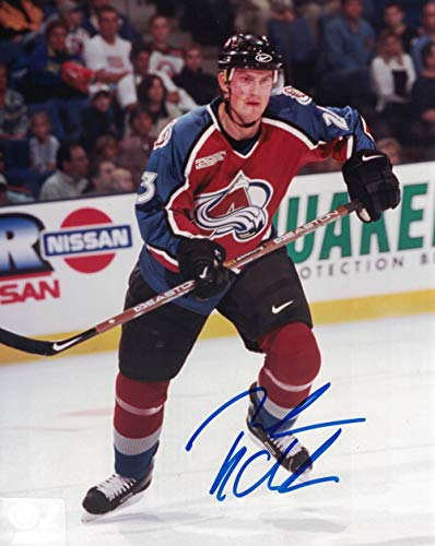 Milan Hejduk Autographed/Signed Colorado Avalanche 8x10 Photo PF