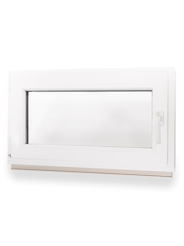 500 x 400 mm Winkhaus Beschlag Isolierglas DIN Links Kellerfenster Kunststoff Fenster Dreh Kipp 50 x 40 cm
