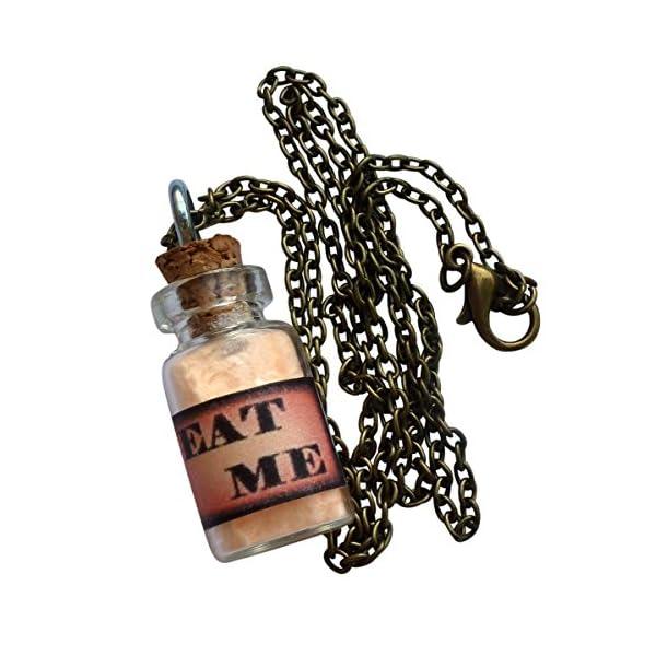 UMBRELLALABORATORY Alice in Wonderland Fairy Glow in The Dark Necklace EaT ME Bottle 4