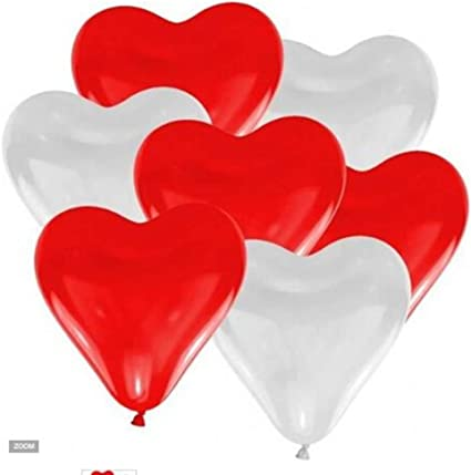 """100 QUALITY 10/"""" RED HEART SHAPED BALLOONS BALLONS HELIUM OR AIR LATEX  PARTY"""