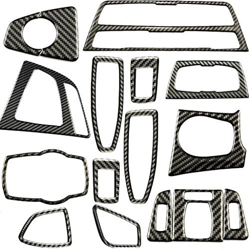 Xotic Tech 1X FULL SET INTERIOR TRIM COVER STICKERS REAL CARBON FIBER FOR BMW 3 4 SERIES by Xotic Tech (Image #1)