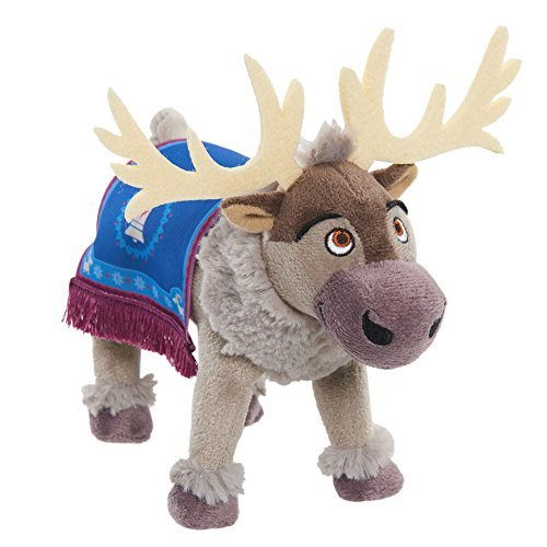 J New! Disney Olaf's Frozen Adventure Bean Plush - Sven - Super Soft Fabrics, Comes with an Iconic Norwegian Saddle Blanket as Seen in Disney's New Holiday Featurette, Olaf's Frozen Adventure! (Disney Frozen Bean Sven Plush)