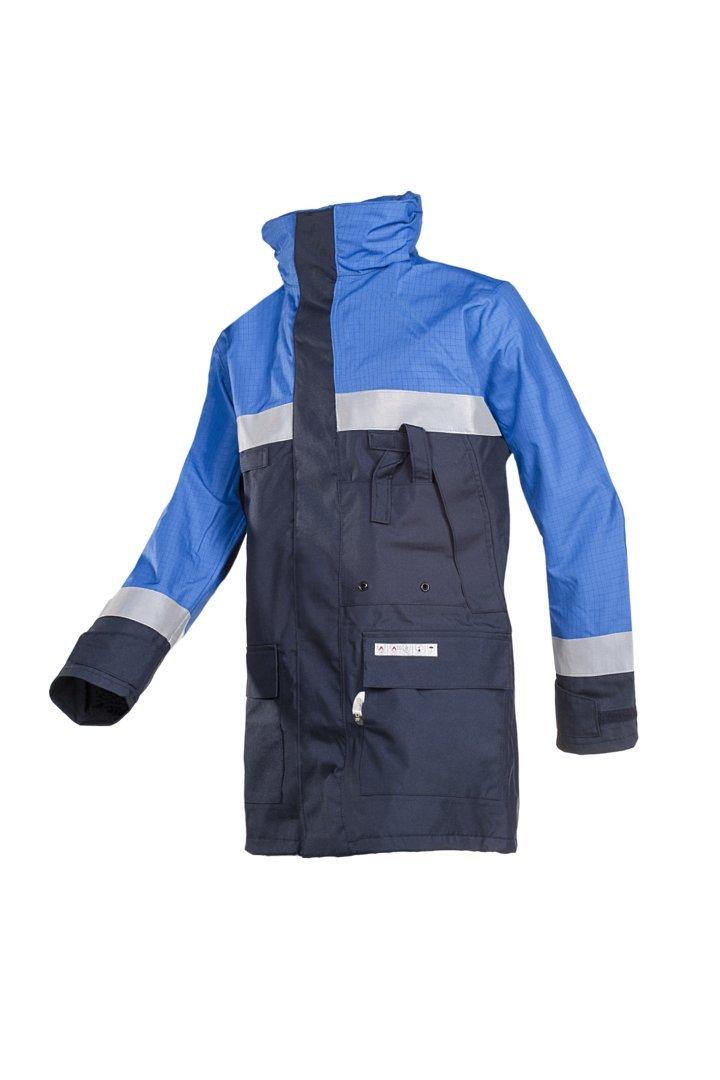 color azul marino y azul tama/ño mediano SIOEN 3074N2EF7019M Chaqueta de lluvia antiest/ática