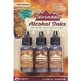 Ranger Adirondack Alcohol Ink 1/2-Ounce 3/Pkg, Cabin Cupboard, Caramel/Ginger/Latte (AAI-20691)