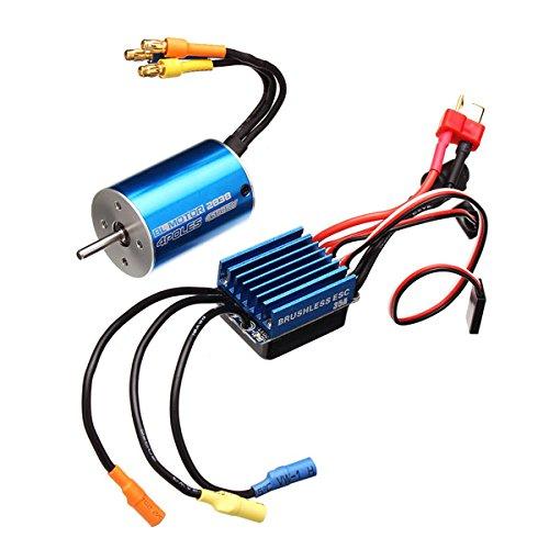 più sconto VIDOO 2838 Motore Motore Motore Impermeabile Sensorless 3600 4500Kv 35A Esc per 1 12 1 14 Auto-4500Kv  Ritorno di 10 giorni