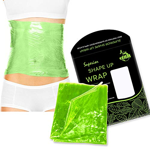Premium Reusable Shape Up Wrap by EHM – Boost The Effects of Your Herbal Body Applicator – for Smooth Skin & Toned…