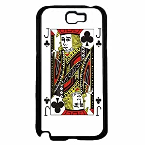 Jack of Clubs- TPU RUBBER SILICONE Phone Case Back Cover Samsung Galaxy Note II 2 N7100 hjbrhga1544
