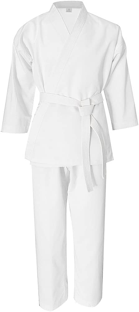 SM SunniMix Abito da Karate Abito da Karate con Cintura Bianca per Boxe Taekwondo Muay Thai