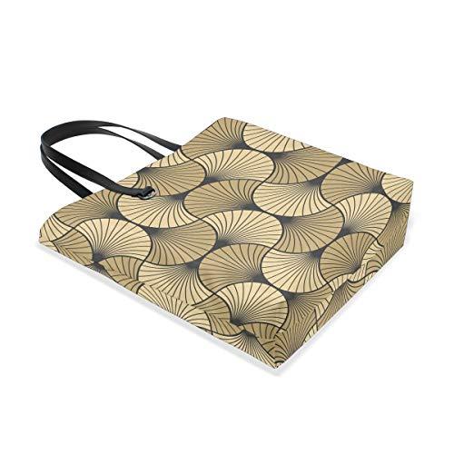 001 Sac Porter Shell Bennigiry Gold Taille L'épaule Tote Deco Black Art Femme Unique Pour À gaWWn5AEBZ
