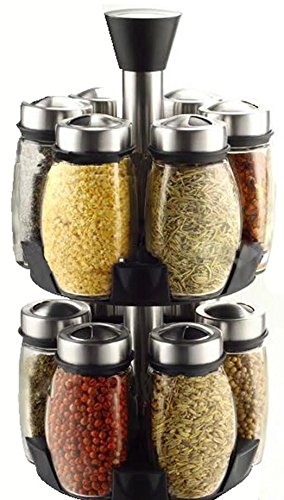 Spice Rack 12pc Glass Construction