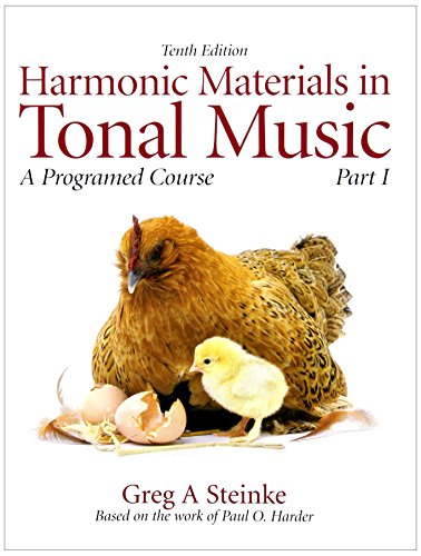 Harmonic Materials in Tonal Music: A Programmed Course, Part 1 with Audio CD (10th Edition)