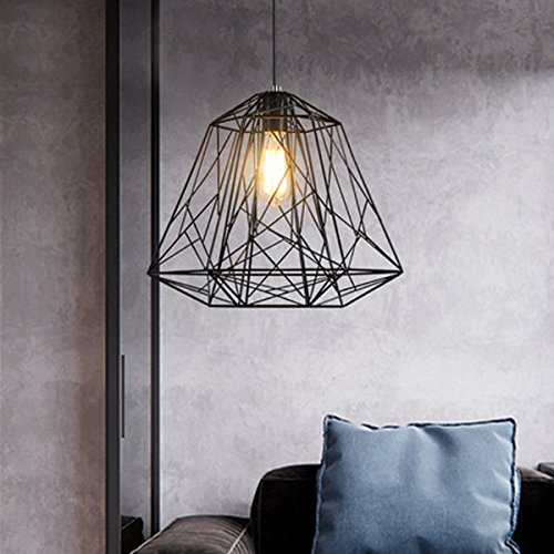 Industrial Pendant Ceiling Light Vintage Chandelier Lighting Fixture with 1×6 Watt Edison Led Bulbs