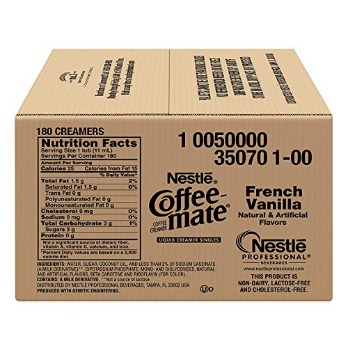 Nestle Coffee-mate Coffee Creamer, French Vanilla, liquid creamer singles, Pack of 900 by Nestle Coffee Mate (Image #5)