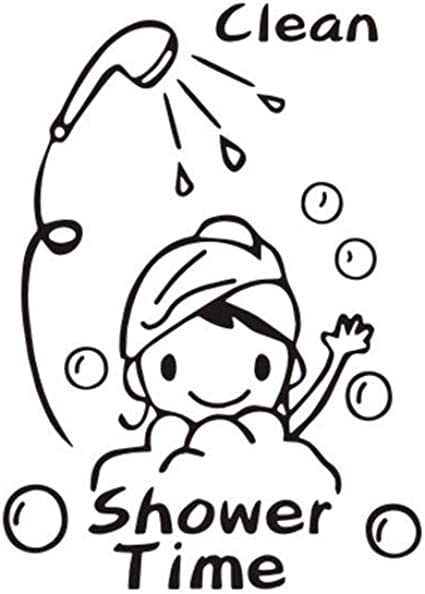 Pegatina de Pared Infantil beb/é,Pegatinas de Pared extra/íbles de Ducha Creativas con Decorativos Adhesivos de Pared para ni/ños ba/ño Decoracion 30x42cm