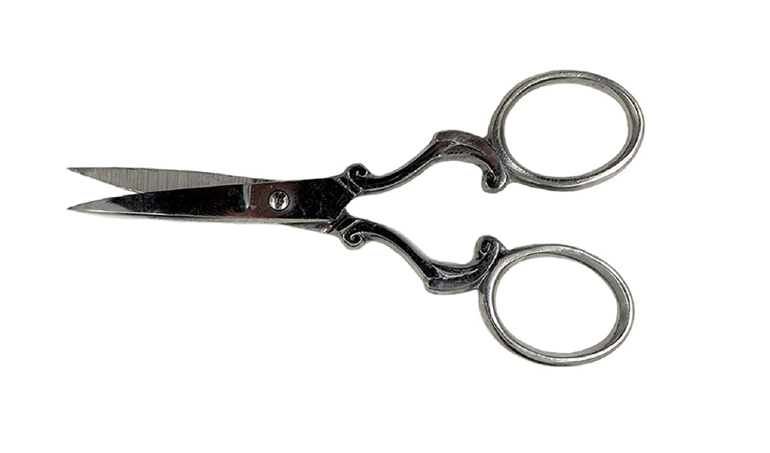 Badass Beard Care Beard & Mustache Stainless Steel Trimming Scissors For Men - Extremely Sharp and Durable (Silver)