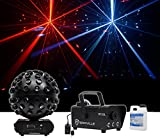 Chauvet DJ Rotosphere Q3 Mirror Ball Dance Floor LED Effect Light + Fog Machine