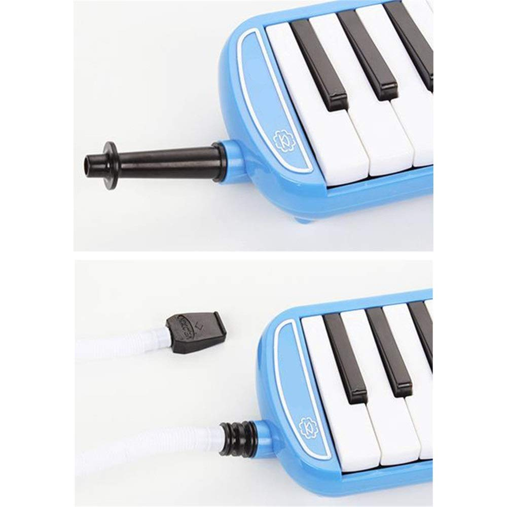 Melodica Musical Instrument Kids Musical Instrument Gift Toy Pianica Melodica 37 Piano Keys For Music Lovers Beginners Portable With Mouthpieces Tube Sets Carrying Bag Pink Blue For Music Lovers Begin by Kindlov-mus (Image #2)