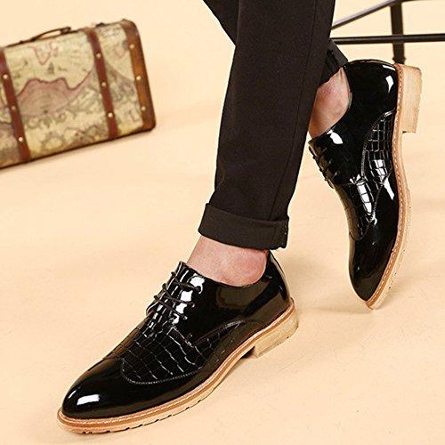 à Microfibre à Chaussures Derbies De Manteau En Cuir En MERRYHE Lacets Black Peinture Hommes Lacets Pour Derby 7I6vqn