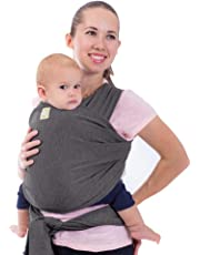 Baby Wrap Carrier All-in-1 Stretchy Baby Wraps - Baby Sling - Infant Carrier - Babys Wrap - Hands Free Babies Carrier Wraps - Best Baby Shower Gift - One Size Fits All (Mystic Gray)