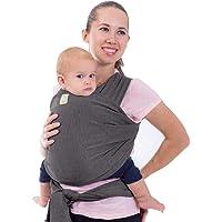 Envoltorio para bebé todo en 1 elástico Ergo envoltura para bebé – ergonómico bebé Sling – portabebés – bebé Wrap – manos libres portabebés envolturas – mejor regalo para la ducha del bebé, gris (Mystic Gray)