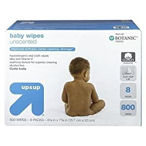 Up and Up Unscented Baby Wipes Refill Pack - 800 Count Toilet