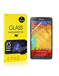 Galaxy Note 3 Screen Protector, Bear Village® Tempered Glass Screen Protector [Lifetime Warranty], 9H Hardness Screen Protector Film for Samsung Galaxy Note 3-1 PACK