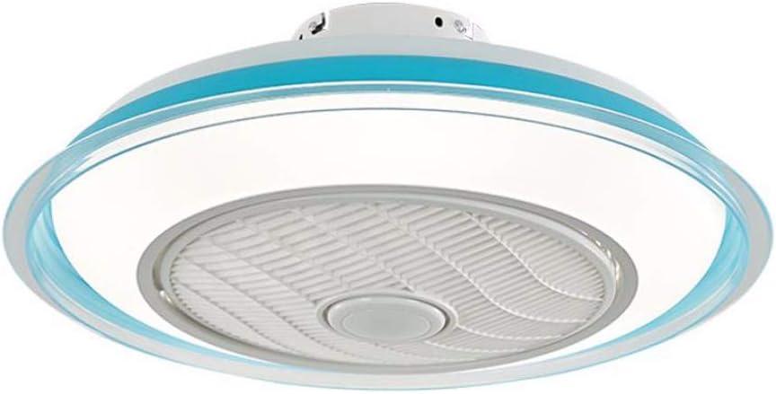 Blanco azul rosa nórdico ventilador de techo lámpara dormitorio niño lámpara de techo LED ventilador lámpara