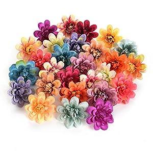 Flower heads in bulk wholesale for Crafts Mini Carnations Handmade Artificial Flower Head Wedding Decoration DIY Wreath Gift Scrapbooking Craft Fake Flowers Home Decor 30pcs 5.5cm 42