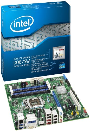 Intel Desktop Board DQ67SW Executive Series - Motherboard - Micro ATX - LGA1155 Socket - Q67 - USB 3.0, FireWire - Gigabit Ethernet - onboard Graphics (CPU Required) - HD Audio (8-Channel) (Firewire With Motherboard)