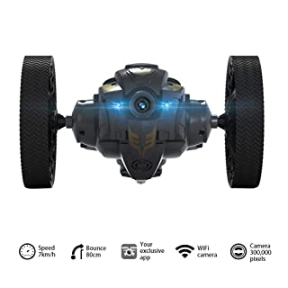 TELECAMERA DI TRASMISSIONE IN TEMPO REALE DELLA AUTO 2.4G TELECOMANDATA - Bounce Vehicle Toy Rotazione a 360°